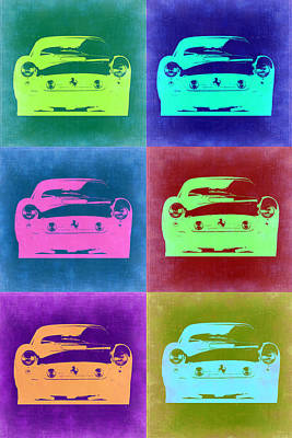 Vintage Cars Painting - Ferrari Pop Art 2 by Naxart Studio