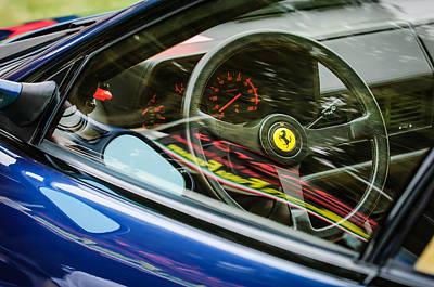 Ferrari Testa Rossa Tr Steering Wheel Emblem -0376c Art Print by Jill Reger