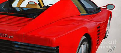 Sportscar Painting - Ferrari Testarossa 512tr by William Homeier