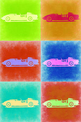 Old Car Painting - Ferrari Testarossa Pop Art 2 by Naxart Studio
