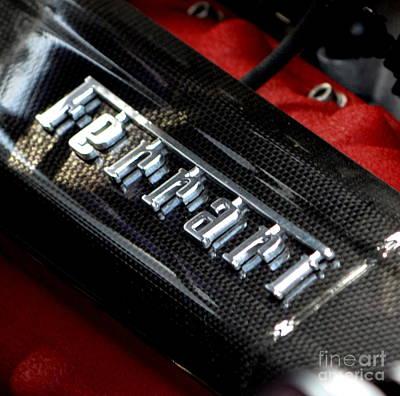 Photograph - Ferrari Valve Covers by Dean Ferreira