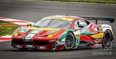 Photograph - Ferrari - Vibrant by David Warrington