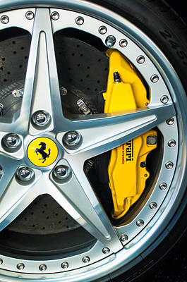 Autos Photograph - Ferrari Wheel 3 by Jill Reger