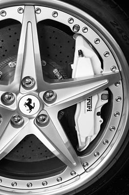 Photograph - Ferrari Wheel Emblem by Jill Reger