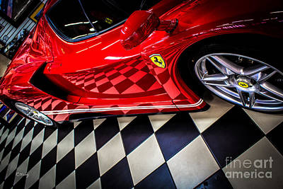 Photograph - Ferrari Enzo In The Winners Circle by Rene Triay Photography