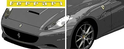 Photograph - Ferrari Yellow by J Anthony