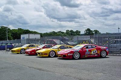 Ferraris At Donnington Park Art Print