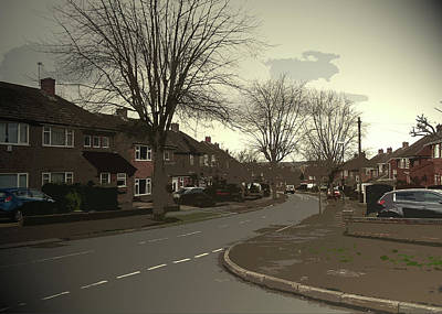 Junction Drawing - Ferrers Way In Allestree, Pictured Here At Its Junction by Litz Collection