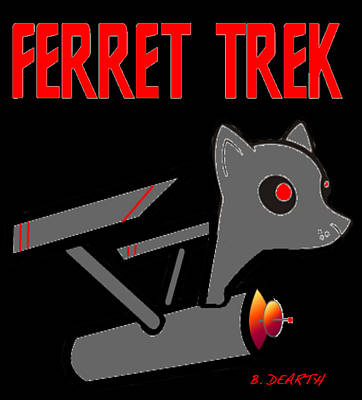 Ferrets Digital Art - Ferret Trek Ship by Brian Dearth