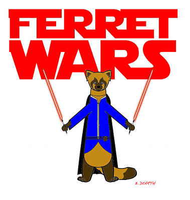 Ferrets Digital Art - Ferret Wars by Brian Dearth