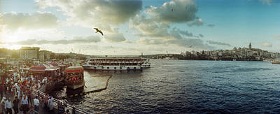 Bosphorus Photograph - Ferries Along The Bosphorus, Istanbul by Panoramic Images