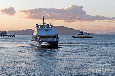 Photograph - Ferries At Sunset by Kate Brown