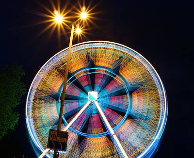 Photograph - Ferris Lights by Photography By Tim Reif