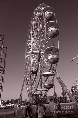 Photograph - Ferris Wheel 1 by September  Stone