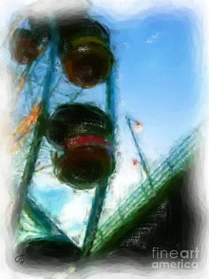 Painting - Ferris Wheel 972 20140912 by Julie Knapp