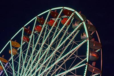 Ferris Wheel After Dark Art Print by Joe Kozlowski
