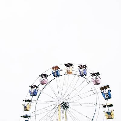 Ferris Wheel Against Clear Sky Art Print by Avneet Kaur / Eyeem
