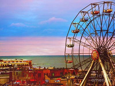 Ocean City New Jersey Ferris Wheel And Music Pier Art Print