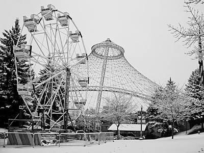 Ferris Wheel And R F P Pavilion - Spokane Washington Art Print by Daniel Hagerman