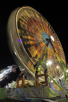 Photograph - Ferris Wheel At Night by Bob Noble
