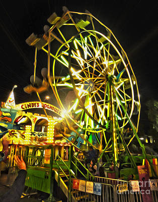 Photograph - Ferris Wheel At Night by Gregory Dyer