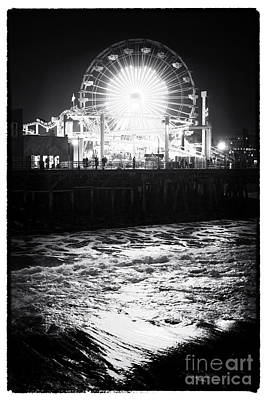 Photograph - Ferris Wheel At Night by John Rizzuto