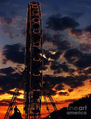 Ferris Wheel At Sunset Paris Original