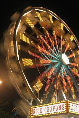 Ferris Wheel Print by Brandon Tabiolo