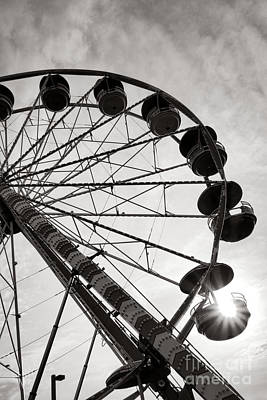 Funfair Photograph - Ferris Wheeler Day Off by Olivier Le Queinec