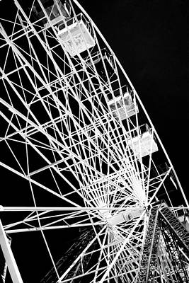 Photograph - Ferris Wheel Details by John Rizzuto