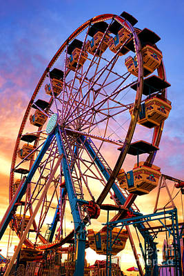 Funfair Photograph - Ferris Wheel Dream by Olivier Le Queinec