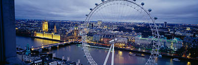 London Photograph - Ferris Wheel In A City, Millennium by Panoramic Images