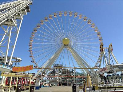 Photograph - Ferris Wheel In Wildwood New Jersey by Becky Lupe