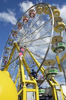 Funland Photograph - Ferris Wheel by J Scott Davidson