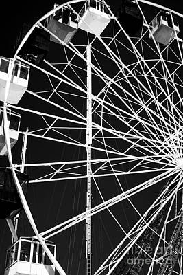 Ferris Wheel Lines Art Print by John Rizzuto