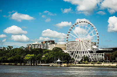 Photograph - Ferris Wheel On The Brisbane River by Parker Cunningham
