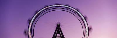 Nightlife Photograph - Ferris Wheel, Prater, Vienna, Austria by Panoramic Images