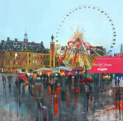 Painting - Ferris Wheel by P.s. Art Studios