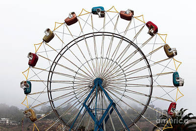 Photograph - Ferris Wheel Seats by John Rizzuto