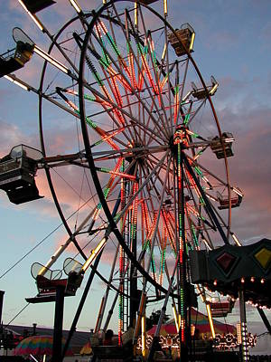 Photograph - Ferris Wheel Sky by Cindy Wright