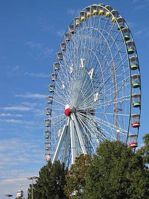 Ferris Wheel State Fair Of Texas Art Print by Shawn Hughes