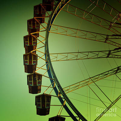Ferris Wheel Vintage At The Octoberfest In Munich Art Print by Sabine Jacobs