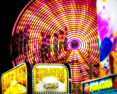 Photograph - Ferris Wheels And Sausages by Mark Andrew Thomas