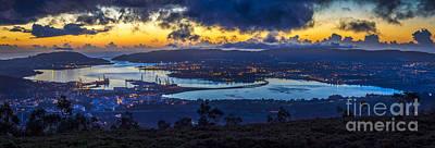 Photograph - Ferrol Estuary Panoramic View From Mount Marraxon Galicia Spain by Pablo Avanzini