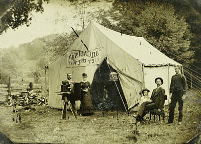 Ferrotypie Tent Of The Photographer, Jq Galusha Art Print
