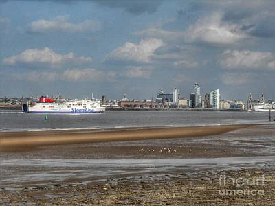 Photograph - Ferry Across The Mersey by Joan-Violet Stretch