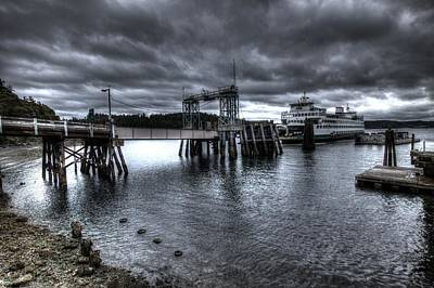 Photograph - Ferry Arrives At Orcas Island Washington  by John King