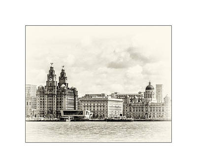Photograph - Ferry At Liverpool Terminal by Spikey Mouse Photography