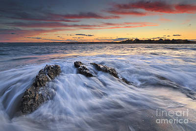 Maine Beach Photograph - Ferry Beach Sunset by Katherine Gendreau