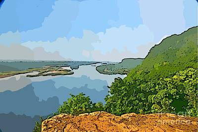 Photograph - Ferry Bluff River View by Joan McArthur
